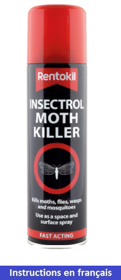 Aérosol insecticide anti-mites Insectrol de Rentokil